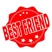 Best friend — Stock Vector