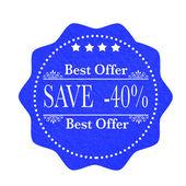 Best offer save — 图库矢量图片