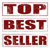 Top best seller ste stamp — Stockvektor