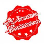 Winter editor stamp — Stock Vector