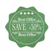 Best offer save — Stock Vector