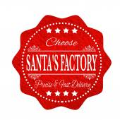 Choose santa's factory — Stock Vector
