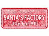 Santa's factory toy for all — Stock Vector