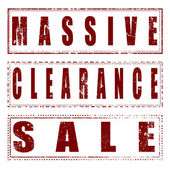 Set stamp massive clearance sale  — Stock Vector