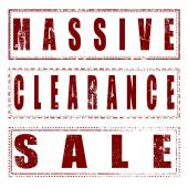 Set stamp massive clearance sale  — Stockvektor