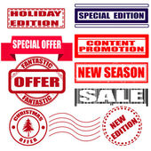 Set stamp holiday edition — Stock Vector