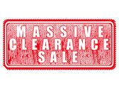 Massive clearance sale — ストックベクタ