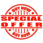 Buy now special offer — Stock Vector