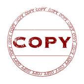 Timbre de copie — Vecteur