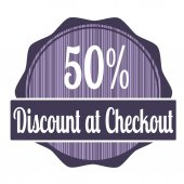 Discount at checkout — Stock Vector
