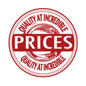 Quality at incredible prices stamp — Stock Vector
