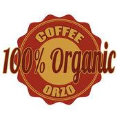 Café biologique — Vecteur