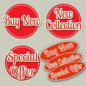 Buy now ,new collection,special offer — Stock Vector