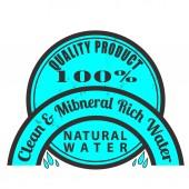 清洁和矿产丰富的水上邮票 — 图库矢量图片
