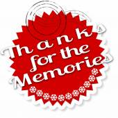Thanks for the memories stamp — Stock Vector