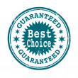 Best choice guaranteed stamp — Stock Vector #65157935