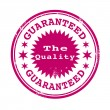 The quality guaranteed stamp — Stock Vector #65159131