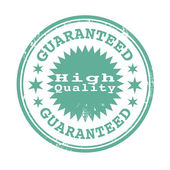High  quality guaranteed stamp — Stock Vector