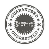 Premium quality guaranteed stamp — Stock Vector