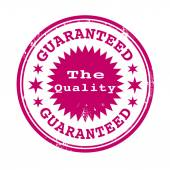 The quality guaranteed stamp — Stock Vector