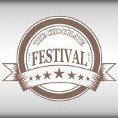 Il timbro di festival del cioccolato — Vettoriale Stock