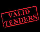 Valid tenders stamp — Stock Vector