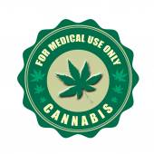 For medical use only , cannabis stamp — Stock Vector