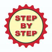Step by step stap — Stock Vector