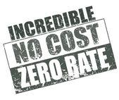 Incredible no cost zero rate stamp — Stok Vektör