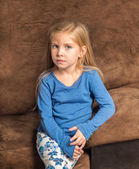 Solemn little girl — Stock Photo