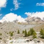 Blue Lake and Glacier moraine Verra — Stock Photo #62739333