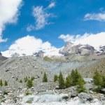 Blue Lake and Glacier moraine Verra — Stock Photo #62739459