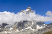 The Matterhorn in the clouds — Stock Photo