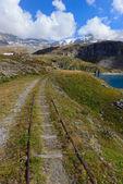 Railroad in Valtournenche — Stock Photo