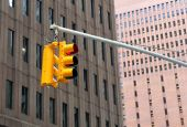 REd Traffic Light in the city — Foto de Stock