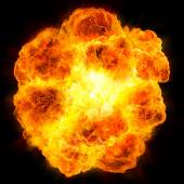 Fireball: explosion — Stock Photo