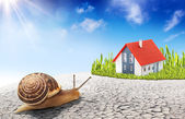 Search for a new home - improvement real estate concept — Stock Photo