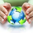 The recycling protect our planet — Stock Photo #52262943