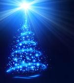 Christmas tree with shining star — Stock Photo