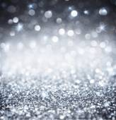 Silver glitter - shiny wallpapers for Christmas — Stock Photo