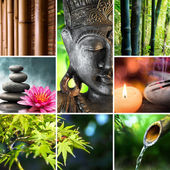 Oriental culture - mosaic with Buddha — Stock Photo