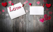 Romantic letter - invitation and copy space for message — Stock Photo