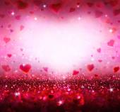 Valentines background with hearts flying — Stock Photo