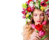 Make up and femininity - fragrance of spring — Foto de Stock