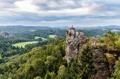 Saxonian Suiza roca formación cerca de Dresde — Foto de Stock