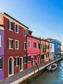 Colorful Houses of Burano — Stock Photo