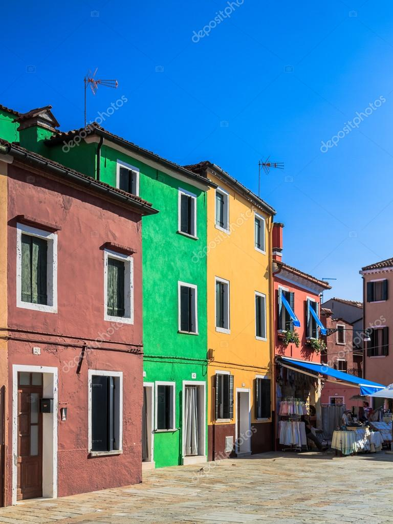 Colorful burano italy burano tourism - Burano Italy September 09 2013 Colorful Houses Of Burano Tourism Island In The Lagoon Of Venice Evening Atmosphere On A Warm Late Summer Day Photo By