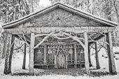 Eski ahşap Şapeli — Stok fotoğraf