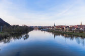 Karlstadt at the river Main — Stock Photo