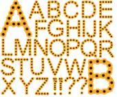 Letters, alphabet, sunflowers, flowers, font, lettering, set of letters, government letters, letters, photo letters — Stock Photo